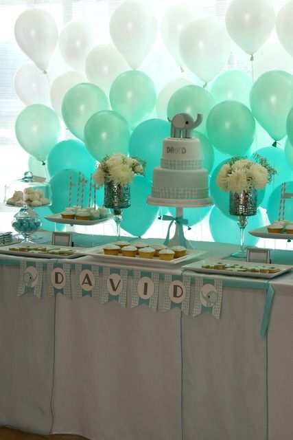 Ombre Balloon backdrop. You would probably want to do this in front of a large window to get the backlit effect...love this...could be real easy using a board or two on the ground behind the table
