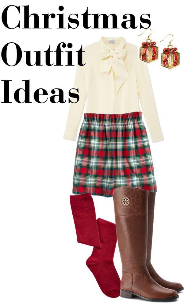 Preppy Christmas Outfit Idea