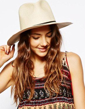 {ASOS Straw Fedora with Skinny Band - under $50}