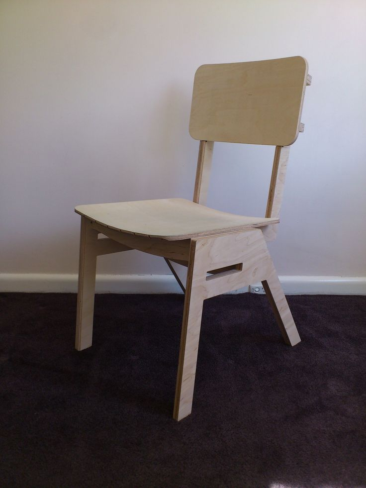 Stackable No Glue No Screws Cnc Cut Plywood Chair With