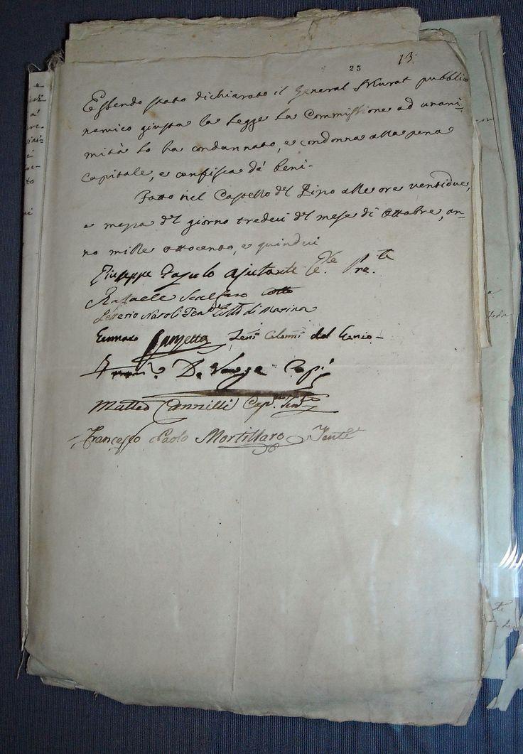 https://flic.kr/p/q4Ep29   Joachim Murat's death sentence - Pizzo Calabro October 13, 1815 - Naples, State Archives