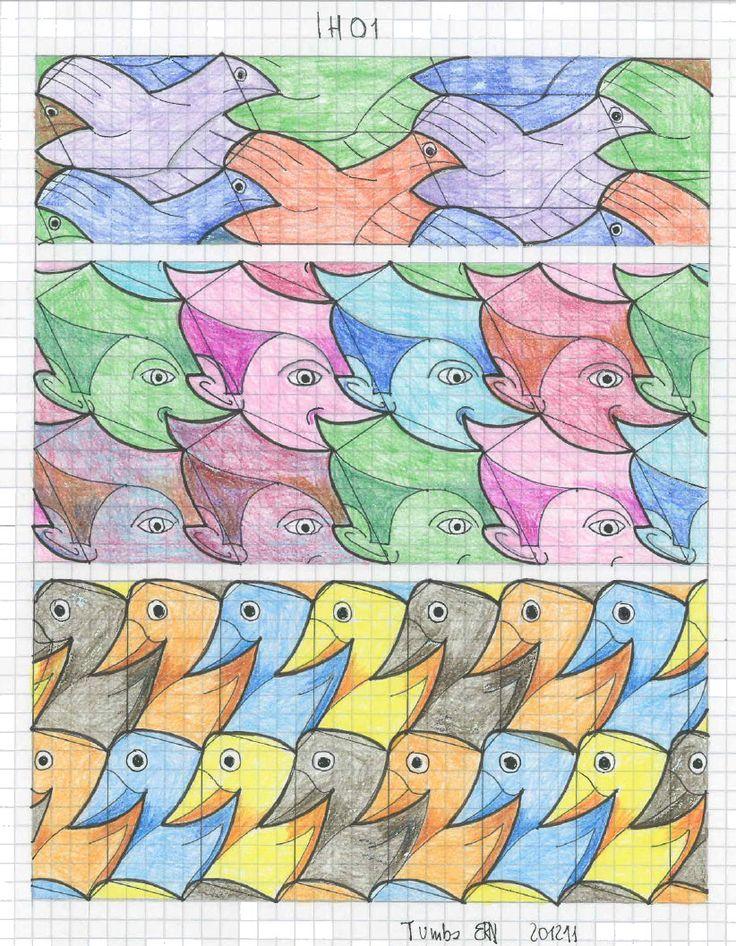 #tessellation #tiling #geometry #pattern #symmetry_art #symmetrybuff #symmetry #Escher #mcescher #handmade #handpaint #artist_sharing #art_empire