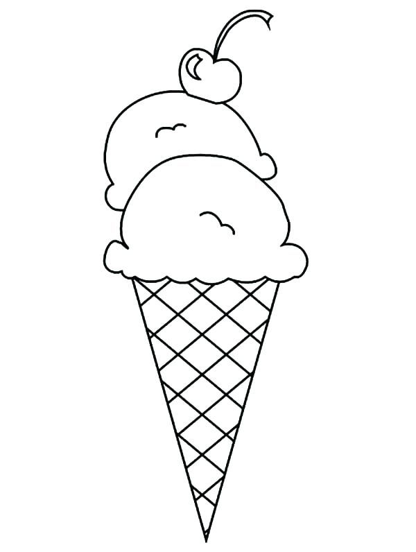 Ice Cream Color Page Ice Cream Coloring Pages As Well As Double Scoop Ice Cream Cone Colori Ice Cream Coloring Pages Free Coloring Pages Ice Cream Cone Drawing