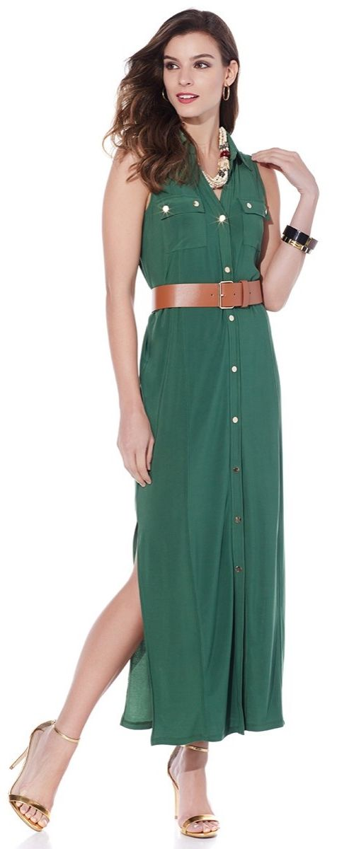 Long, lean and chic, this maxi dress by IMAN is designed with you in mind. Fashion and functionality come together for a winning combination!