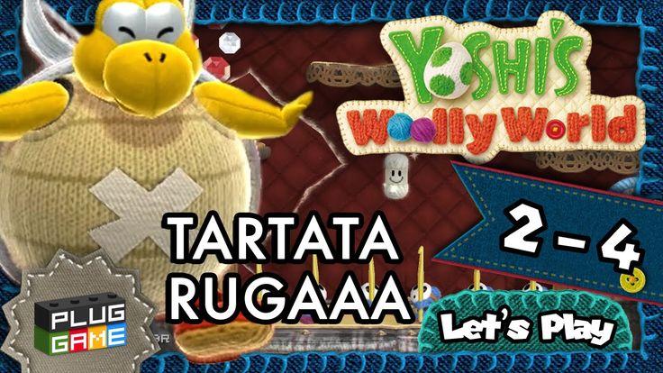 Yoshi's Woolly World - #2-4 Chefão Tartaruga Gigante (Gameplay Wii U 108...