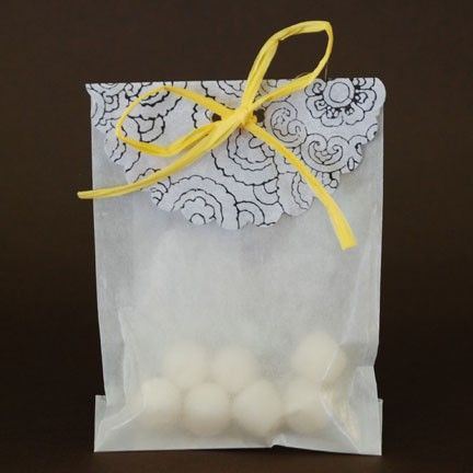Candy Favor Bags In Yellow Black And Gray Find This Pin More On Bumble Bee Party