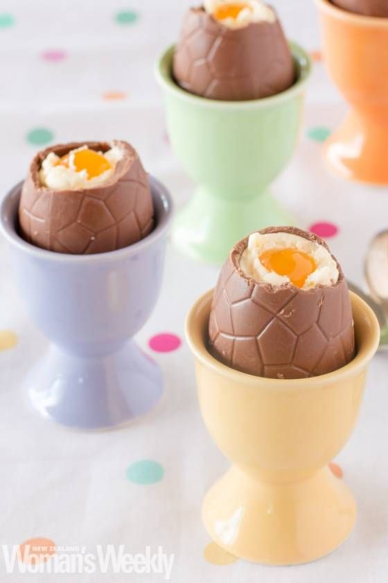 Cheesecake Filled Chocolate Eggs