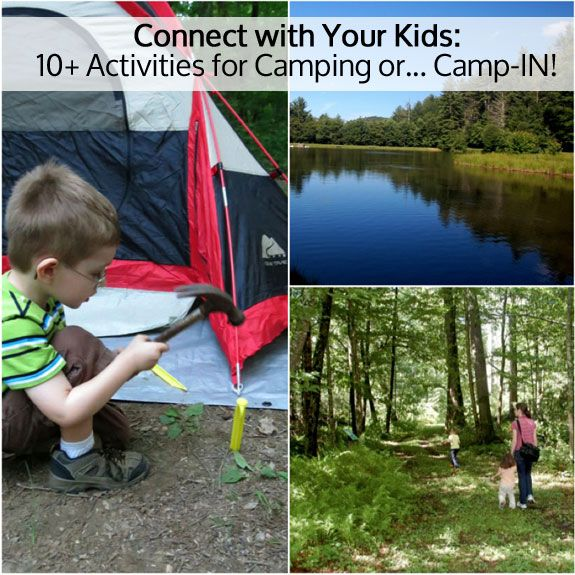 10 Activities for Camping with Kids via Inner Child Fun