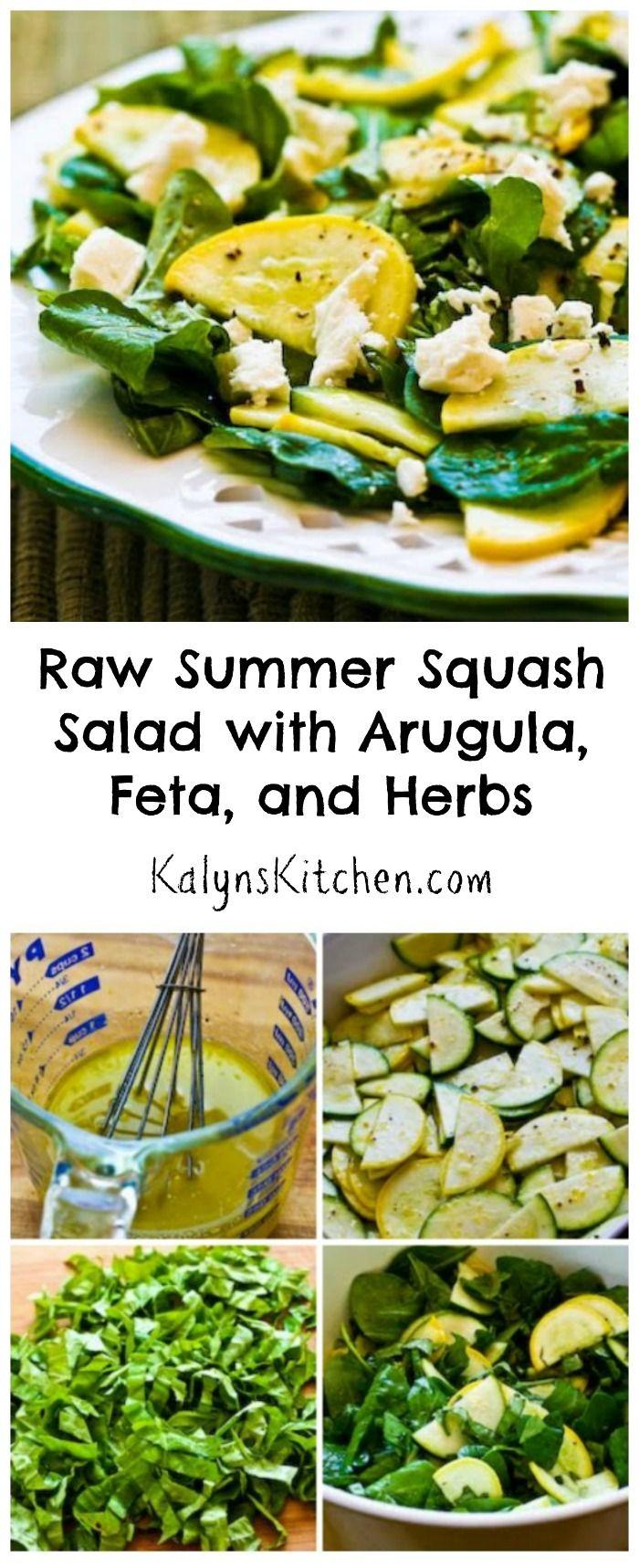 Raw Summer Squash Salad with Arugula, Feta, and Herbs ...