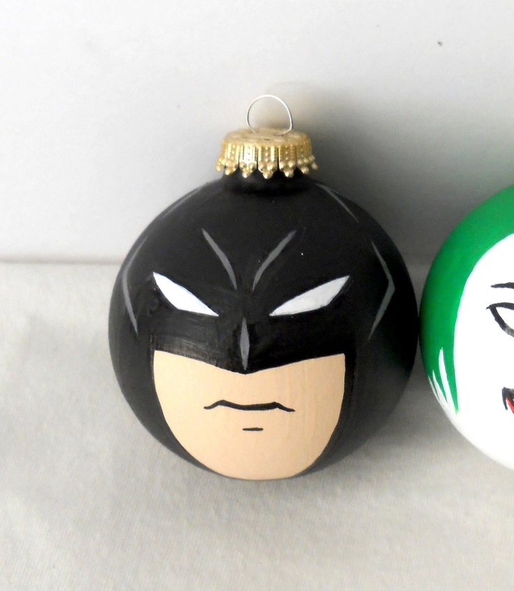 Batman Dark Knight Painted Christmas Ornament MADE by GingerPots, $15.00