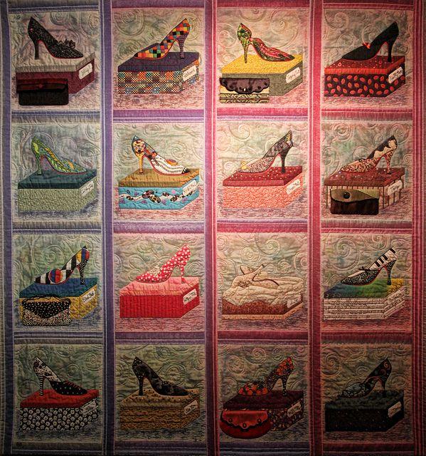 Shoe Quilt: Dreams Ii, Ideas Cn, Quilts Inspiration, Imelda Dreams, Crafts Stuff, Art Quilts, Great Ideas, Quilts Ideas, Shoes Quilts