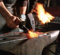Blacksmithing courses at The Crucible in Oakland.
