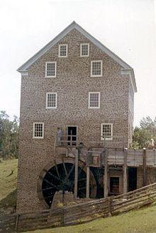 Roblin's Mill, a watermill, at Black Creek Pioneer Village in Toronto, Canada.