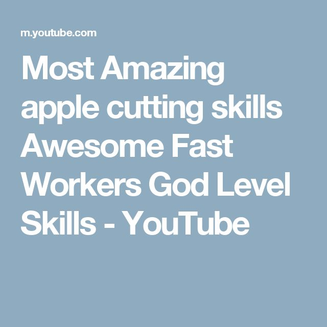 Most Amazing apple cutting skills Awesome Fast Workers God Level Skills - YouTube