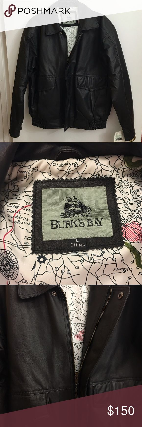 💥PRICE DROP💥 Burk's Bay Women's Leather Coat Brand new with tags Burk's Bay genuine leather coat. Black. Size large. Style #1010. New with tags. Also has extra snap parts if needed. Smoke and pet free home. Burk's Bay Jackets & Coats