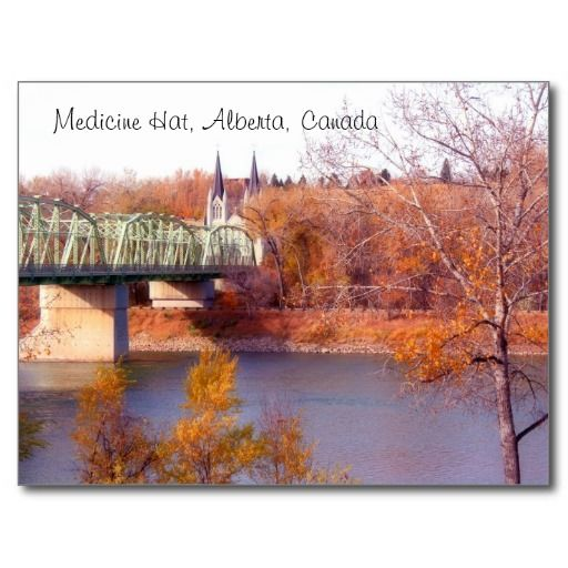 Medicine Hat Alberta In Fall Postcard