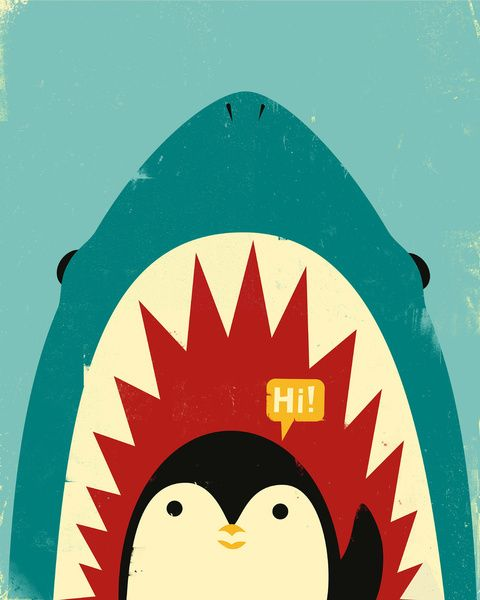 This is jaws and me inside lol hahaha since i always say HI...................Hi! by Jay Fleck