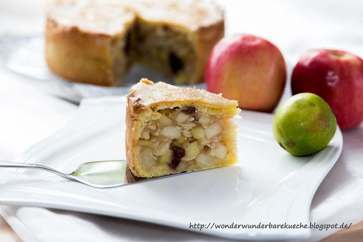 Kleine Kuchen  Gedeckter Caipirinha Apfelkuchen  Kleine Kuchen und Torten  kleiner Kuchen