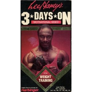 LEE HANEY'S 3 DAYS ON MOTIVATIONAL VIDEO FOR WEIGHT TRAINING (VHS Tape)  http://www.modernwebmaster.com/modernweb.php?p=B0001CLXPS  B0001CLXPS