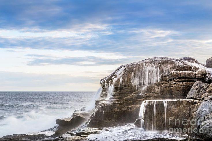 Crashing Waves On The Coast, Prospect, Nova Scotia by Mike Organ