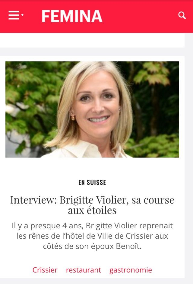 "Article dans ""Femina.ch"""