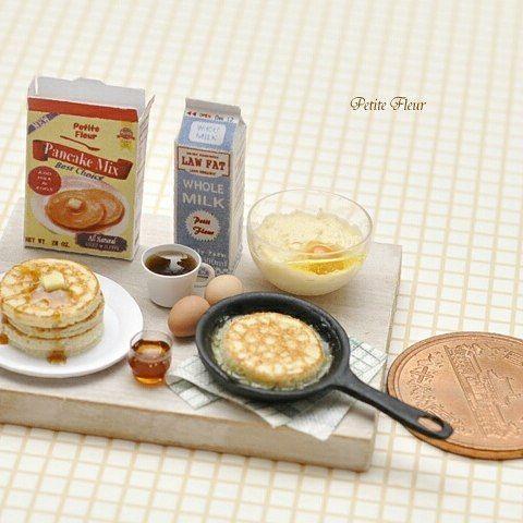 2017. Miniature Pancakes & Coffe♡ ♡  By Petit Fleur