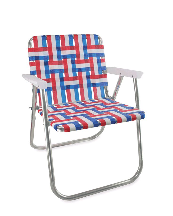 Old Glory Picnic Chair with White Arms