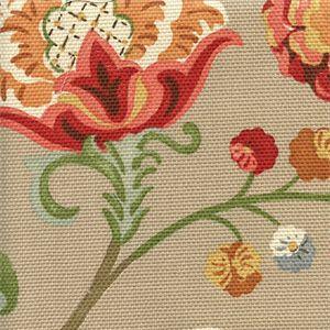 Chic Mushroom Tan Floral Slubby Basket Drapery Fabric   SW47918   Fabric By  The Yard At