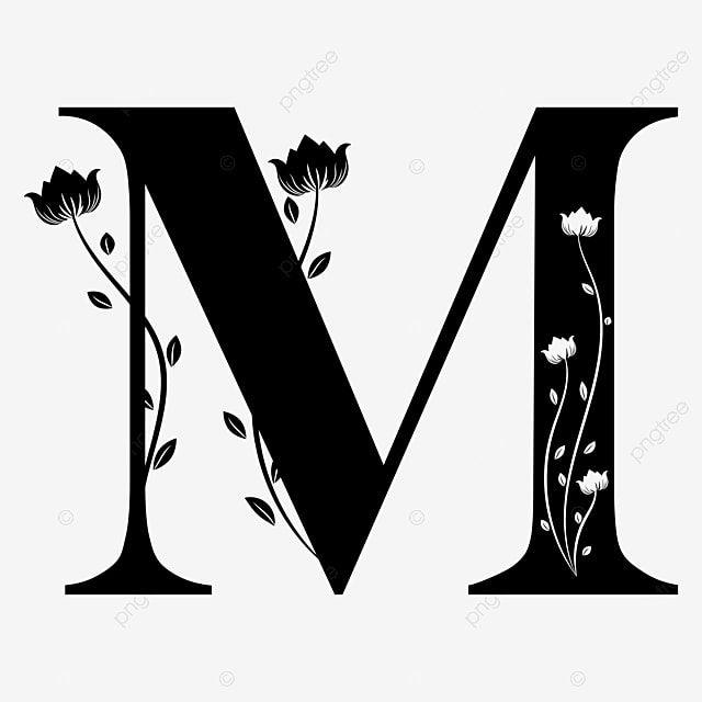 الأبجدية حرف M مع زخارف نباتية م حرف م رسالة Png والمتجهات للتحميل مجانا Lettering Alphabet Flower Alphabet Alphabet Wallpaper