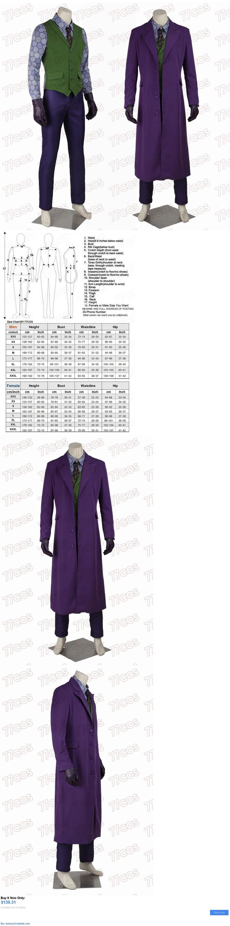 Men Costumes: Batman The Dark Knight Joker Heath Ledger Cosplay Costume Outfit Full Set BUY IT NOW ONLY: $139.31 #priceabateMenCostumes OR #priceabate