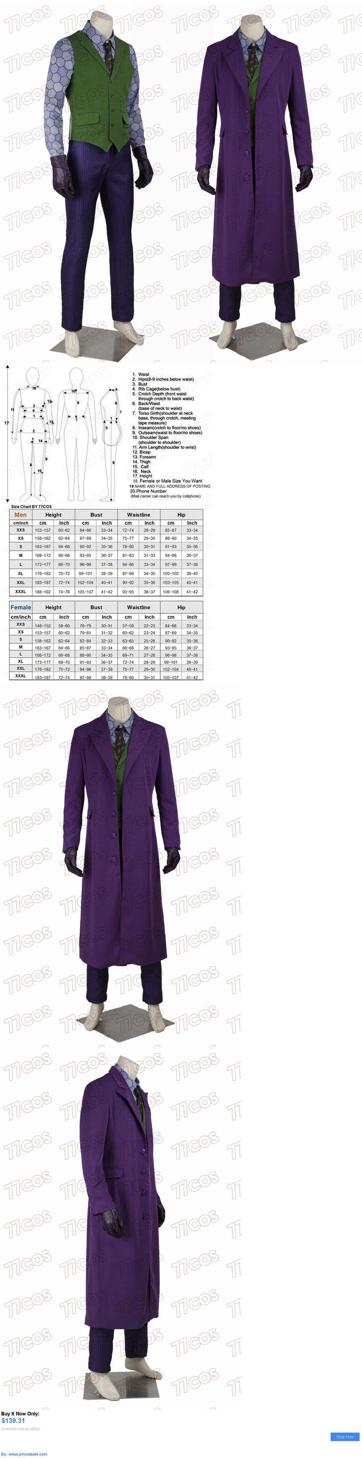 Men Costumes: Batman The Dark Knight Joker Heath Ledger Cosplay Costume Outfit Full Set BUY IT NOW ONLY: $139.31 #priceabateMenCostumes OR #priceabate