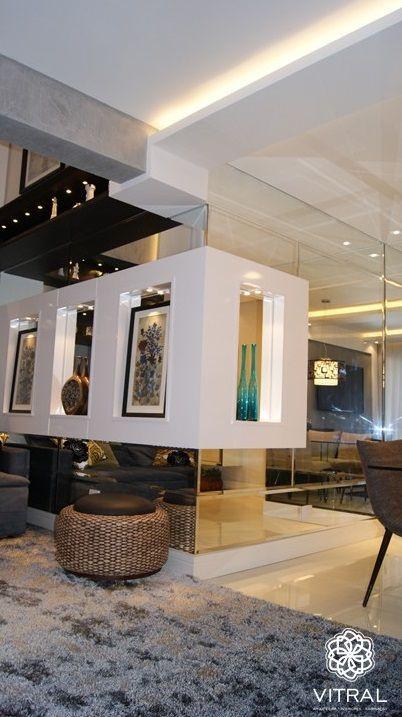 Sala Tv Com P Direito Duplo Com Pintura Efeito Concreto