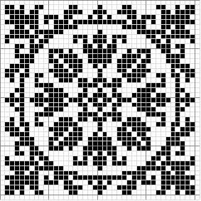 Square 13 | Free chart for cross-stitch, filet crochet | Chart for pattern - Gráfico