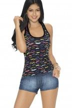 Blusa atlética con diseño novedoso   CARMEL - Ropa por catálogo para mujeres y teens