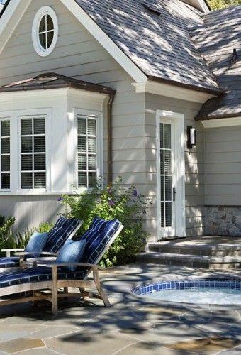 Exterior Paint Color Option- House: BM #1550 Cumuius Cloud  Trim:  BM #2123-70 Ice Mist