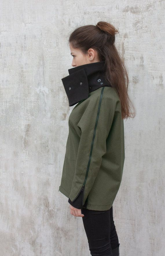 Womens army jacket / Womens military jacket / by ExlibrisClothing
