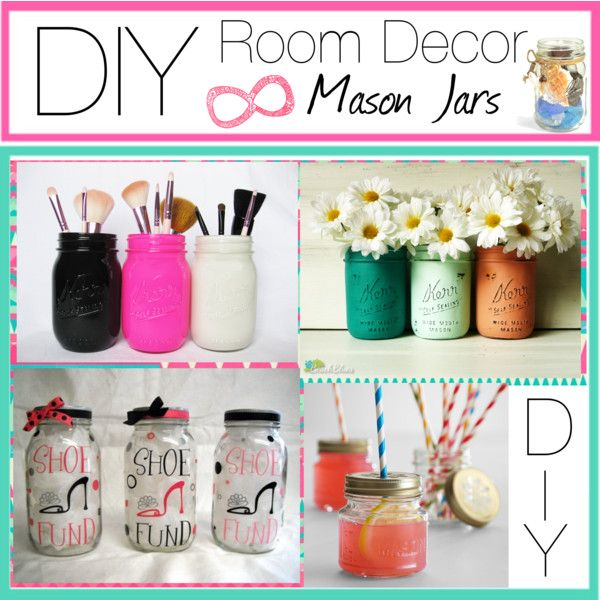 """DIY Room Decor! Mason Jars"" by that-diy-tip-gurl on Polyvore"
