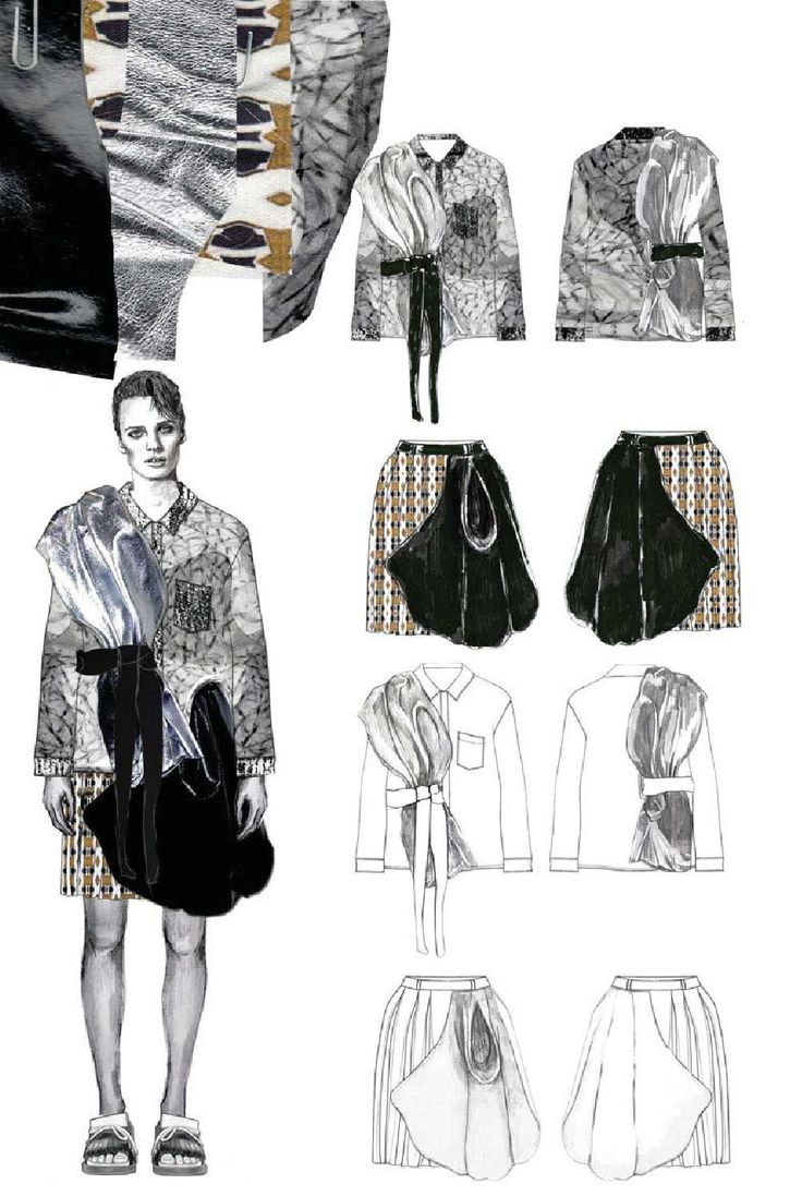 Fashion Sketchbook - fashion illustration & flat drawings; fashion…