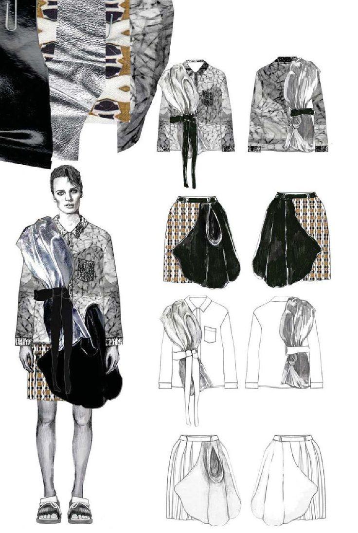 Fashion Sketchbook - fashion illustration & flat drawings; fashion portfolio // Diana Misnei
