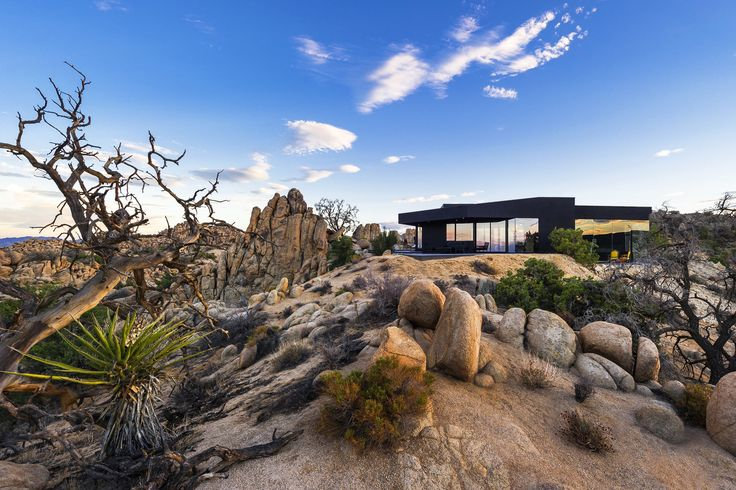 Built by Oller & Pejic Architecture in Twentynine Palms, United States with date 2012. Images by Marc Angeles  . This project began with an e-mail and a meeting in fall of 2008 for a house in Yucca Valley, which is located near Pa...