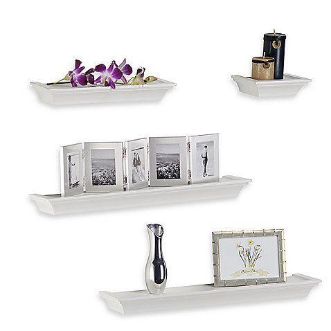 Bed Bath & Beyond- Melannco 4-Piece Ledge Set in White - $29.99