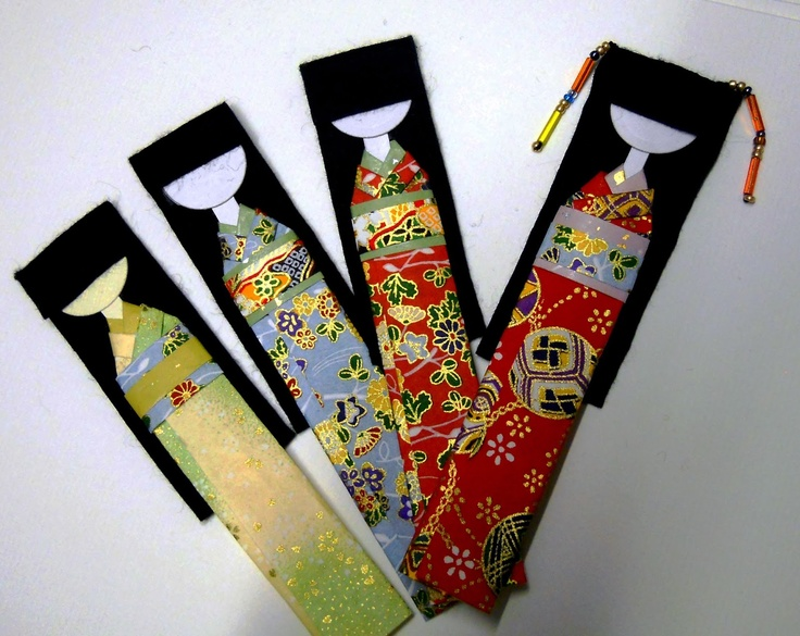 Origami Japanese Doll Bookmark