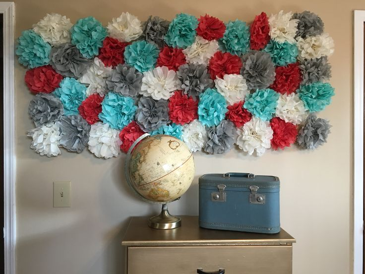 Tissue Paper Pom Pom Room Decor