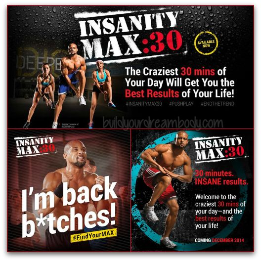 Shaun T is Back! with all new fitness program Insanity MAX 30! The PROMO is on sale now tll the end of JANUARY 2015. Get you challenge pack here: www.beachbodycoach.com/dawndumont