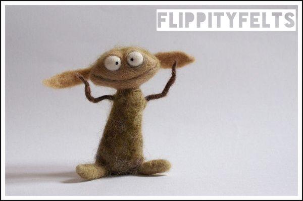 Jigs the needle-felted goblin by Flippity Felts