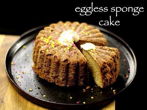eggless sponge cake recipe | eggless vanilla cake recipe | how to make cake in pressure cooker - YouTube
