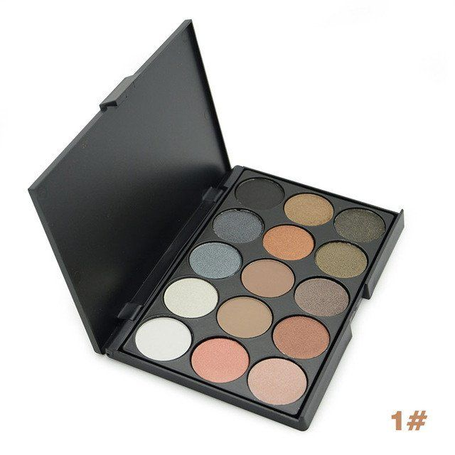 Eye Shadow Stock Clearance! Eye Makeup Cosmetic 15 Earth Color Matte Shimmer Pigment Eyeshadow Make Up Palette 4 Color Optional