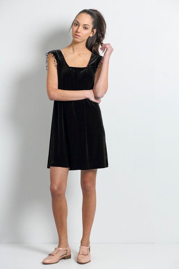 Velvet dress, Jumper dress, Shift dress, Party dress, Formal dress, Cocktail dress, little black dress, party dress, bridesmaid, Elegant