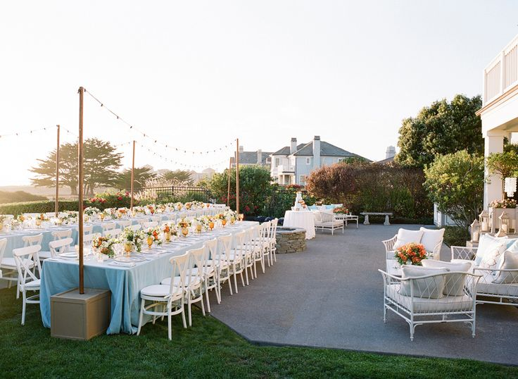 Photography : Joel Serrato | Event Planning : Laurie Arons Special Events Read More on SMP: http://www.stylemepretty.com/2016/02/26/elegant-seaside-wedding-with-a-pop-of-orange/