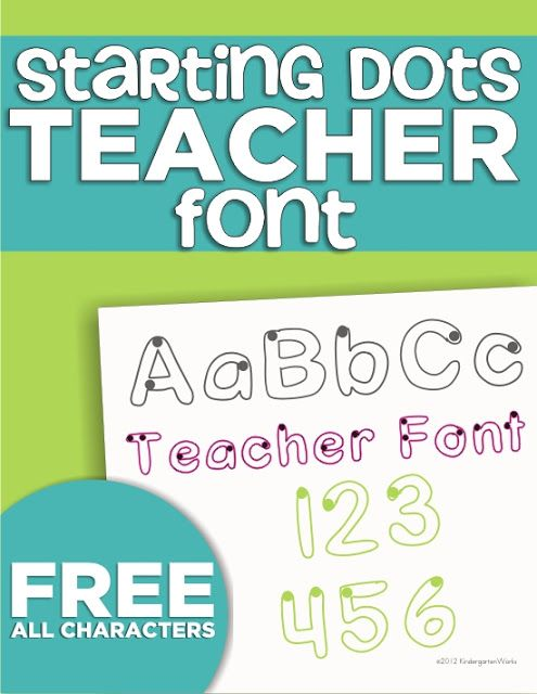 I've been scribbling away to create teacher fonts! The first is a kinder-friendly font that models a Zaner-Bloser style of printing and includes all characters.